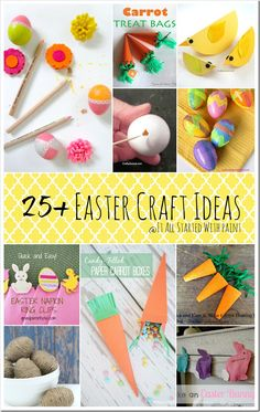 25 Easter Craft Ideas - Kid Friendly Egg Decorating and Crafts Easter Arts And Crafts, Easter Projects, Bunny Crafts, Easter Subday, Easter Stuff, Happy Easter, Halloween Crafts, Holiday Crafts, Halloween Ideas