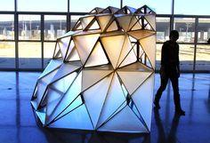 Picture of Dragon Shell Pavilion Prototype Temporary Architecture, Dragon Pictures, Biro, Pavilion, Arctic, Shells, Louvre, Brainstorm, Cnc