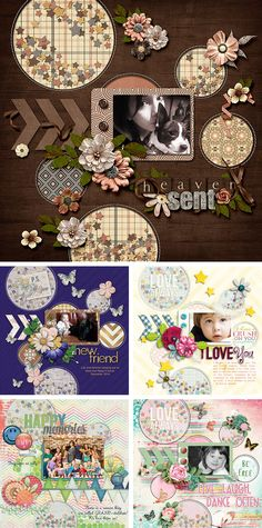 Digital Scrapbooking Pages with akizo designs template