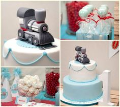 Vintage Train Party Created By Cupcakes Janelle And Red Letter Studio 2 Birthday Cake