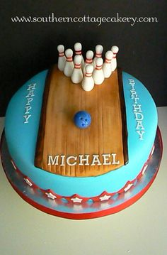 Local Bowling Alley So My Mom Decided To Throw Him A Party cakepins.com