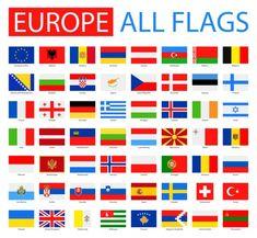 Bandeiras da Europa - Coleção completa de vetores . — Ilustração de Stock Country Flag List, Country Flags Images, Country Flags And Names, World Country Flags, Flags Of European Countries, European Day Of Languages, European Flags, Countries And Flags, World Flags With Names