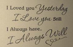 ALWAYS! The magic of true love.