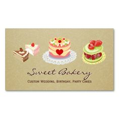 Diaper cake business cards business card templates pinterest custom wedding birthday party cakes bakery store business cards reheart Choice Image
