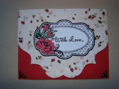 Items similar to With Love.Red Roses on Etsy Handmade Greetings, Greeting Cards Handmade, Red Roses, Handmade Jewelry, Group, Love, Board, Crafts, Etsy