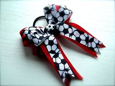 For Your Sweet Bowtique Soccer Hair Bow by ForYourSweetBowtique, $7.00