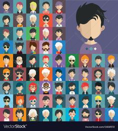 Set of people avatars. Download a Free Preview or High Quality Adobe Illustrator Ai, EPS, PDF and High Resolution JPEG versions.