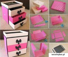Komódka z kartonowych pudełeczek - ZRÓB TO SAMA!