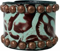 2'' Turquoise Floral Cuff - CUF219