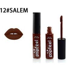 12 Color Matte Liquid Lipstick Moisturizer Lip Gloss Waterproof Popfeel Brand Makeup Lipgloss Nude Tint Lip Balm Batom Cosmetic
