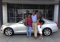 Edwina Mack of Moss Point will be living the life of luxury, or at least driving in it, since she is the owner of this new 2014 Cadillac ATS. She is pictured below with her sister, Carolyn Sanders, and her Sales Consultant, Kevin Randolph. Photobombing credits belong to Dustin Creel, lol!