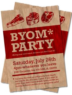 First, fun idea for a party. Second, love the design and printing on a paper bag.