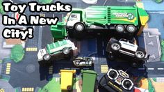 Toy GARBAGE TRUCKS In A New City!