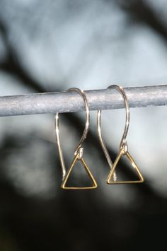 Modern Art Deco Brass Triangle with HandFormed by ShanonJDesigns, $22.00