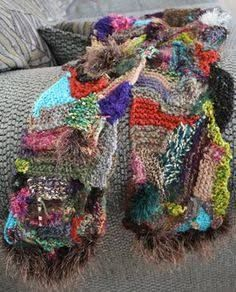 Dixie Fencl – Creative Knitting multidirectional scarf by Dixie Fencl. Not thrilled with the colours, but love the construction. Knitting Blogs, Knitting Yarn, Free Knitting, Knitting Patterns, Crochet Patterns, Knitting Needles, Crochet Shawl, Crochet Stitches, Knit Crochet