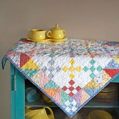 Raid your scrap bag to make this quick and easy tabletop quilt.
