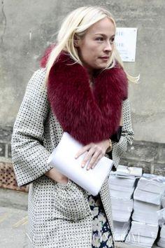 blood red faux fur