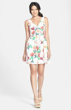 BB Dakota 'Basha' Floral Print Fit & Flare Dress | Nordstrom
