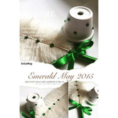 Emerald May is this month's birthstone & ironically I just finished designing a new ostrich feather pen and stand for a client who's wedding theme is emerald & white! #may2015 #emeraldwedding #emerald #summerweddings #Michelleworldesigns #ostrichfeatherpen #weddings #weddingseason #weddingwednesday #weddingphotoalbums #springweddings2015