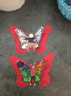 Papillon fête des parents Spring Activities, Craft Activities, Butterfly Crafts, Preschool Art, Diy For Kids, Diy And Crafts, Smoothie, Parents, Gifts
