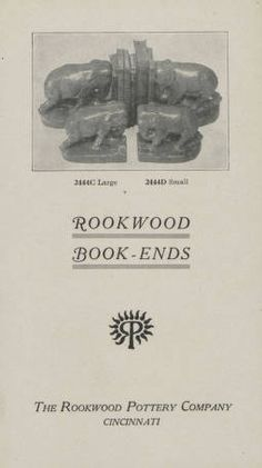 Rookwood book-ends/ the Rookwood Pottery Company, 1900. Metropolitan Museum of Art (New York, N.Y.). Thomas J. Watson Library. Trade Catalogs.