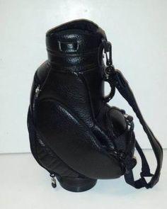 Black Faux Leather 1/4 Scale Replica Golf Bag Case Pack 12