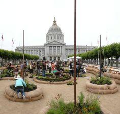 Futurefarmers, Slow Food Nation Victory Garden, 2008, City Hall, San Francisco
