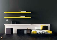 Moderno dormitorio juvenil con cama Aro