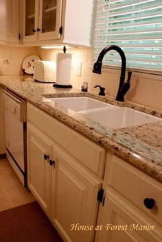 Home At Forest Manor: Our Kitchen    Earlier Than And After. See More. White  Undermount Kitchen SinkWhite ...