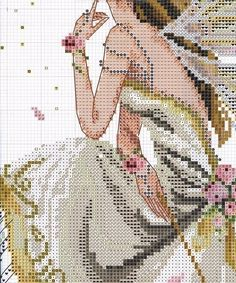 "ru / - Альбом ""The Fairy Queen"" Celtic Cross Stitch, Fantasy Cross Stitch, Cross Stitch Fairy, Cross Stitch Angels, Cross Stitch Charts, Cross Stitch Designs, Cross Stitch Patterns, Cross Stitching, Cross Stitch Embroidery"