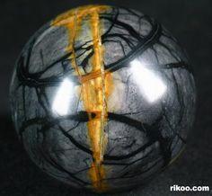 Black Picasso Jasper Crystal Ball