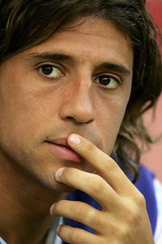 Hernan Crespo of Argentina looks on during the FIFA World Cup Germany 2006 Group C match between Netherlands and Argentina at the Stadium Frankfurt...
