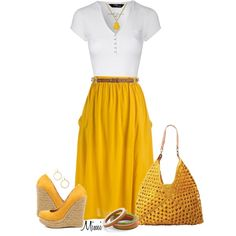 """""""Ray of Sunshine"""" by myfavoritethings-mimi on Polyvore"""