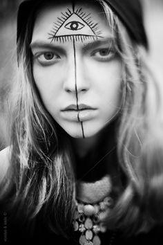 ➳➳➳☮ American Hippie Bohemian Boho Feathers Gypsy Spirit Style-  Festival Face Paint
