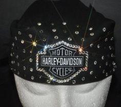 Love this Harley Davidson bling bandana! The Devas Bling has lots of cool bling biker stuff on their site.