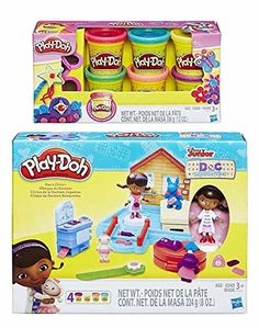 Put everything back together again with the Doc McStuffins Play-Doh Doc's Clinic Set! The Doc is included as a cute figure and she's got all of her medical equipment to fix everything. Mold parts fi...