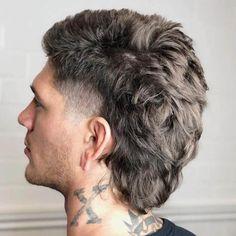 Mullet Haircut for Men In 2020 Pin En Popular Haircuts for Men Mullet Haircut, Mullet Hairstyle, Fade Haircut, Hairstyle Ideas, Mullet Fade, Curly Mullet, Mens Mullet, Short Mullet, Popular Haircuts