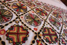 Inspirited Estonian rural traditions from the ancient times; the traditional motives on the woolen embroidery craft. Estonia