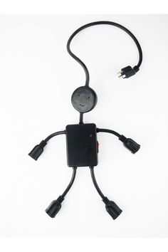 Electro Man Multi Outlet Black