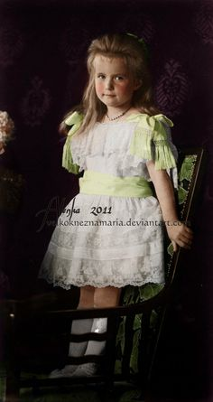 Grand Duchess Anastasia Nikolaevna Romanova of Russia (1900-1918), fourth child and daughter of the last Russian Tsar Nicholas II.