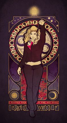 Bad Wolf - Megan Lara. Rose is and forever will be my favorite companion. I love this print. SOO I got this one too :)