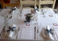 Burns Night Supper Table