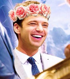 I have a flower crown addiction. Also Sebastian Stan