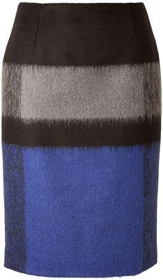Paule Ka Wool Skirt in Cobalt on shopstyle.com
