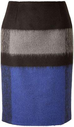 Paule Ka Wool Skirt in Cobalt on shopstyle.com