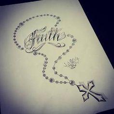 Resultado de imagem para terço desenho tattoo