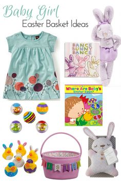 It's hard to think of baby girl Easter basket ideas, but there are some little gifts you can buy that are both cute for the holiday but also useful year round.