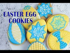 DECORATED EASTER EGG COOKIES, HANIELA'S - YouTube