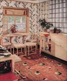 vintage linoleum photos   ... Inspiration - Remodeling Vintage Kitchens - 1939 Armstrong Linoleum Ad