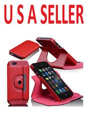 I PHONE 5 CASE IN PU LEATHER WITH 360 DEGREES ROTATION
